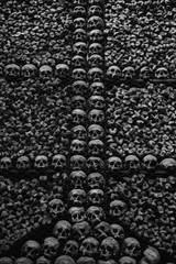 Real skulls and bones at San Bernardino alle Ossa church