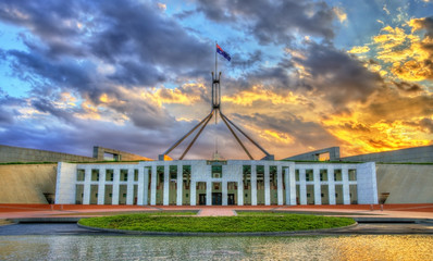 Canvas Prints Oceania Parliament House in Canberra, Australia