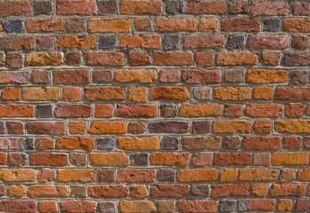 Średniowieczny mur ceglany - tekstura