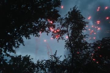 Fireworks Going Off In Neighborhood