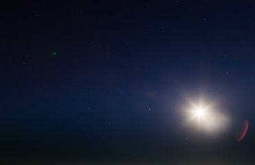 Голубое небо большие светящиеся звезды
