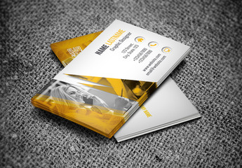 Orange and Gray Business Card Layout 2