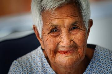 Facial image of Asian elders