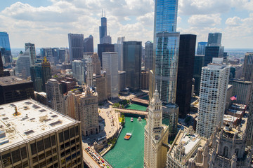 Aerial image Chicago River