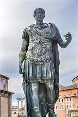 Julius Caesar Statue Roman Forum Rome Italy
