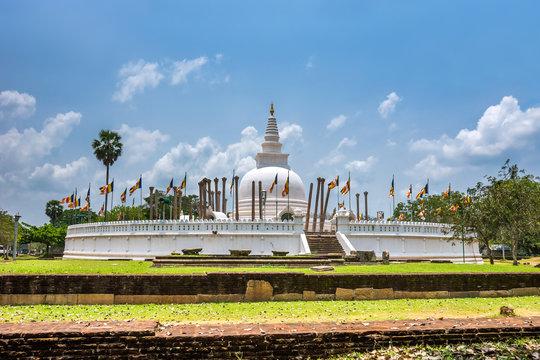 Thuparamaya dagoba, the first stupa in Sri Lanka, in Anuradhapura.