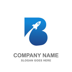 Rocket B Letter Logo