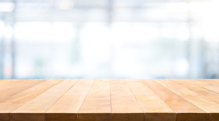 Wood table top on white background.For create product display or key visual layout