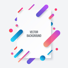 Vertical banners with 3D abstract background