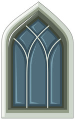 Old fashioned style of window on white