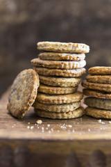 Hazelnut Cookie Stack
