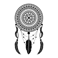 Dream Catcher Vector Illustration