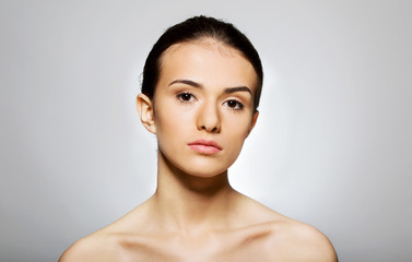 Beautiful face of young woman