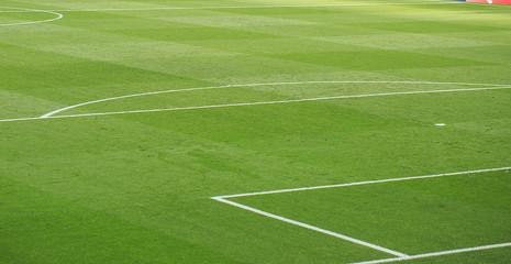 Soccer stadium lines details