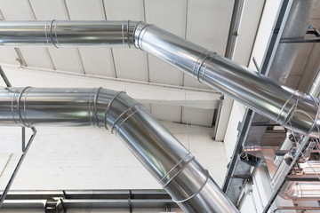 air ducts in a industry