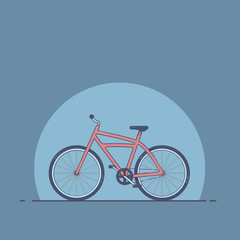 Illustration of a bicycle. flat style. A bike.