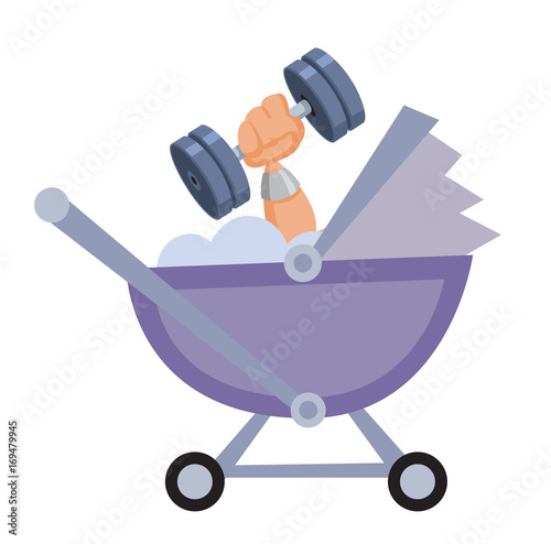 Strong Baby In Carriage