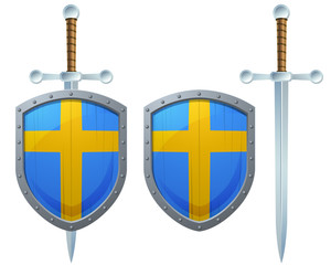 Sweden Cross Shield Sword