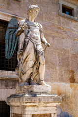 Ancient statue of an angel at Castel Sant'Angelo in Rome