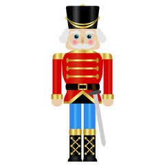 Vector illustration of a toy soldier with sword