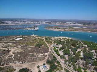 Playa de Tavira en el Algarve portugues