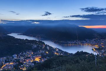 Dawn on Como, lake Como, Lombardy, Italy, Europe
