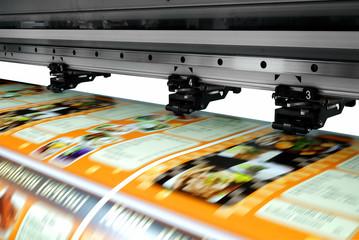 Large printer format inkjet working Wall mural