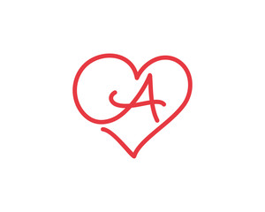 Letter A and heart logo 1