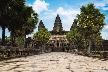 Entrance to Angkor Wat, Siem Reap Cambodia