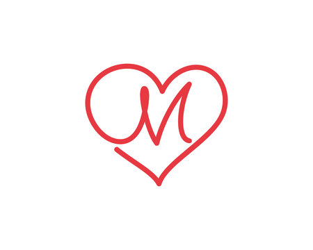 2 770 Best M Heart Logo Images Stock Photos Vectors Adobe Stock