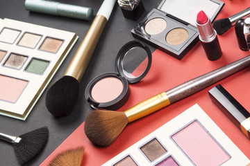 Cosmetics and makeup high resolution image. Photo created for makeyp and fashion industry.