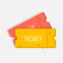 Ticket icon in trendy flat style, Vector illustration