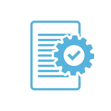 Business concept. Compliance graphic with clipboard and check mark symbol on white background