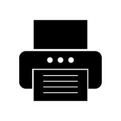 office printer isolated icon vector illustration design