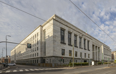 law courts massive building, Milan, Italy