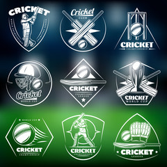 Vintage White Cricket Labels Set