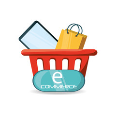 ecommerce online discount to business strategy vector illustration