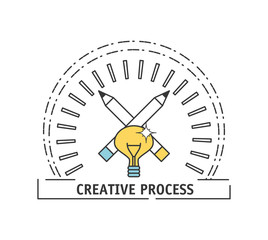 process ideas to creative imagination and innovation vector illustration