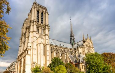 Notre-Dame de Paris en automne, Paris, France