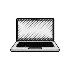 Laptop computer technology icon vector illustration graphic design