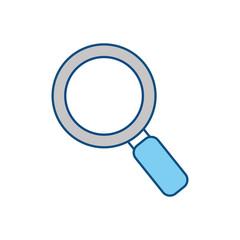 Magnifying glass symbol icon vector illustration graphic design