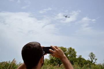 Hombre haciendo una foto