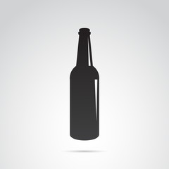 Bottle icon isolated on white background. Vector art.