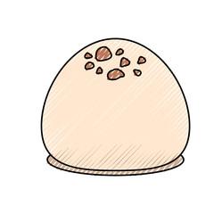 Delicious chocolate candy icon vector illustration graphic design