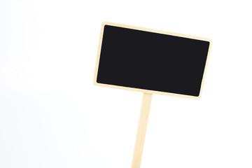 a blank blackboard label isolated on a white background.