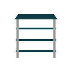 metallic shelf isolated icon vector illustration graphic design