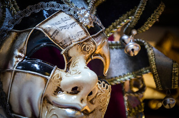 venetian masks close up