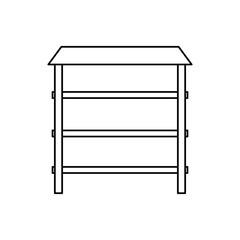 metallic shelf isolated icon vector illustration graphic design