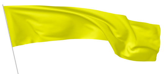 Long yellow flag on flagpole.