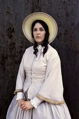 western colonial woman in old wild west